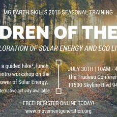 July 30: Earth Skills Training: Children Of The Sun