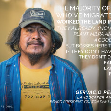 Worker Wisdom in a Changing Climate Series: Gervacio Peña López, Graton Day Labor Center