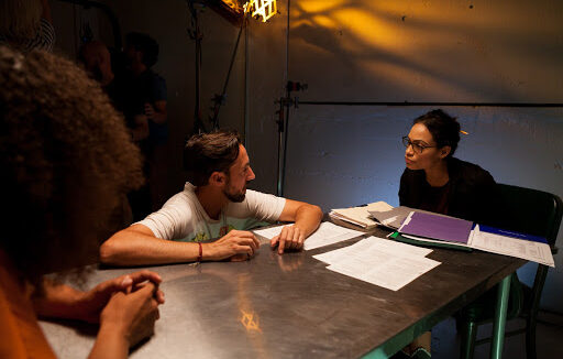 yvan and rosario on set